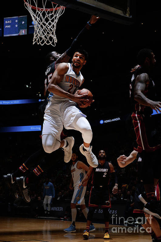 Nba Pro Basketball Art Print featuring the photograph Jamal Murray by Bart Young