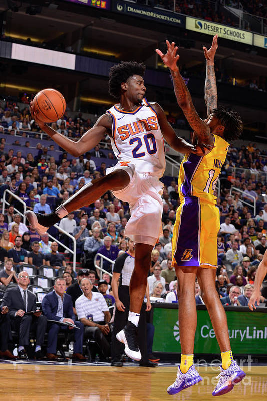 Nba Pro Basketball Art Print featuring the photograph Josh Jackson by Barry Gossage