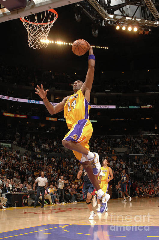 Nba Pro Basketball Art Print featuring the photograph Kobe Bryant by Noah Graham