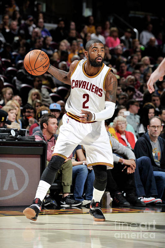 Nba Pro Basketball Art Print featuring the photograph Kyrie Irving by David Liam Kyle