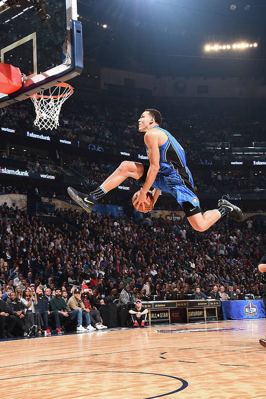 Event Art Print featuring the photograph Aaron Gordon by Andrew D. Bernstein