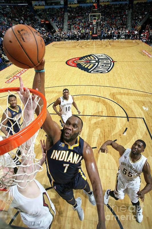 Smoothie King Center Art Print featuring the photograph Al Jefferson by Layne Murdoch