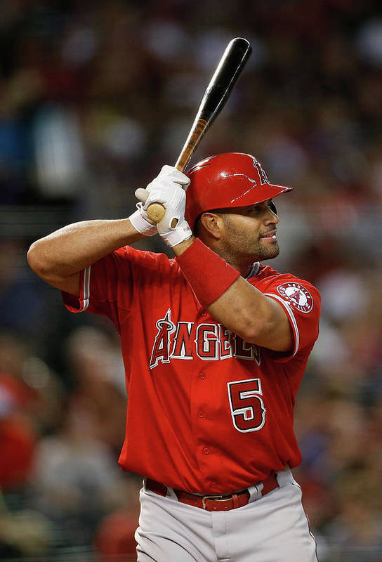 People Art Print featuring the photograph Albert Pujols by Christian Petersen