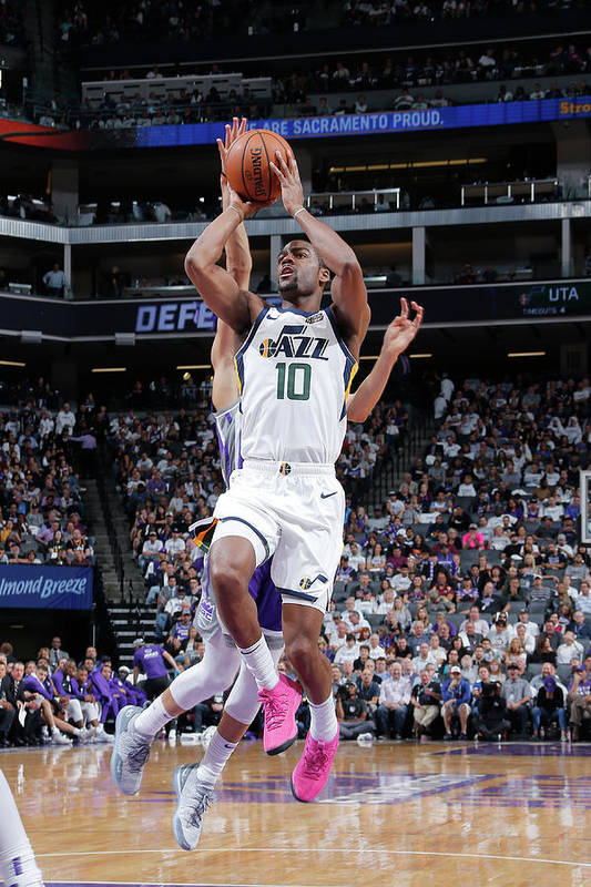 Nba Pro Basketball Art Print featuring the photograph Alec Burks by Rocky Widner