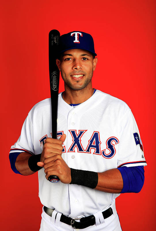 Media Day Art Print featuring the photograph Alex Rios by Jamie Squire