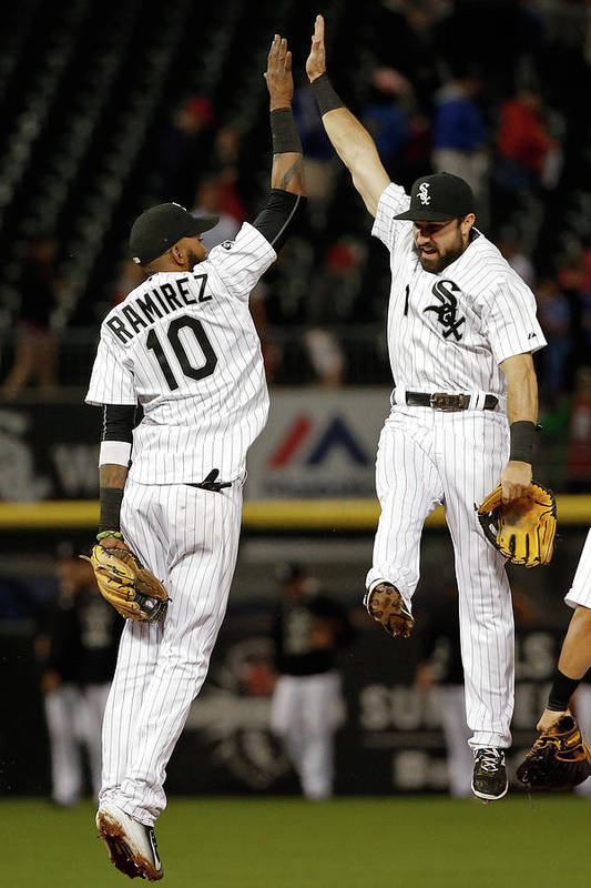 People Art Print featuring the photograph Alexei Ramirez and Adam Eaton by Jon Durr