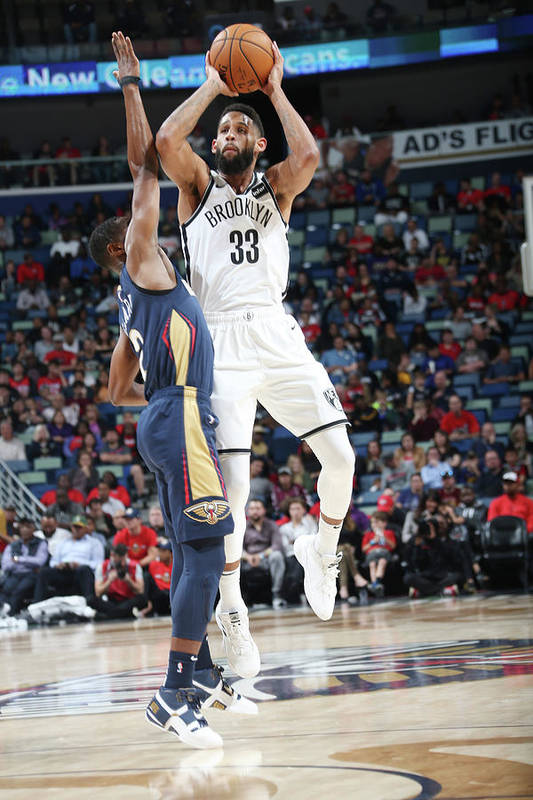 Smoothie King Center Art Print featuring the photograph Allen Crabbe by Layne Murdoch