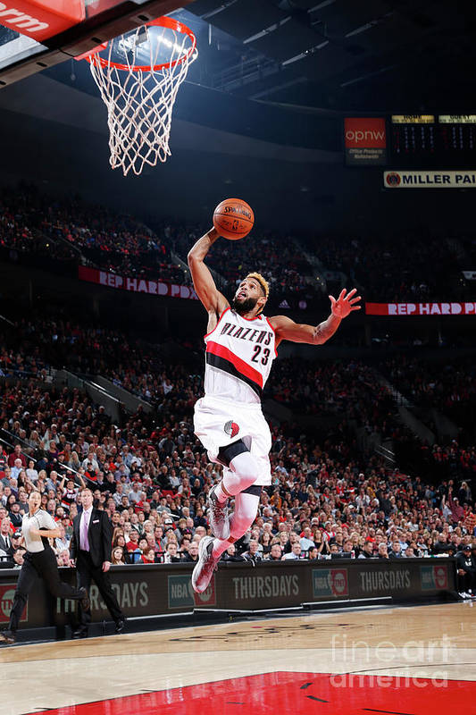 Nba Pro Basketball Art Print featuring the photograph Allen Crabbe by Sam Forencich