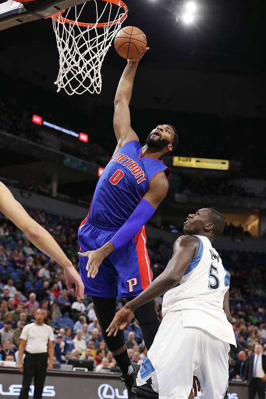 Nba Pro Basketball Art Print featuring the photograph Andre Drummond by Jordan Johnson