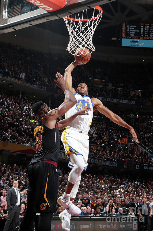 Playoffs Art Print featuring the photograph Andre Iguodala by Nathaniel S. Butler