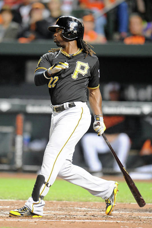Game Two Art Print featuring the photograph Andrew Mccutchen by Mitchell Layton