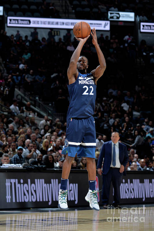 Nba Pro Basketball Art Print featuring the photograph Andrew Wiggins by Mark Sobhani
