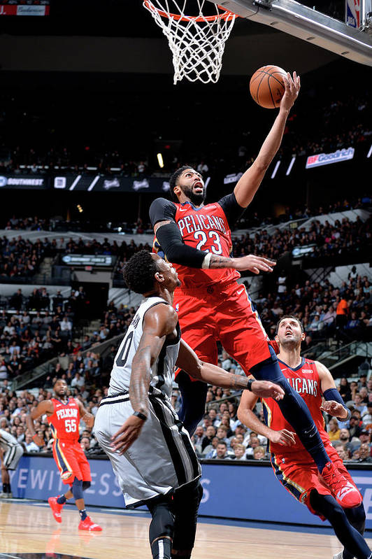Nba Pro Basketball Art Print featuring the photograph Anthony Davis by Mark Sobhani