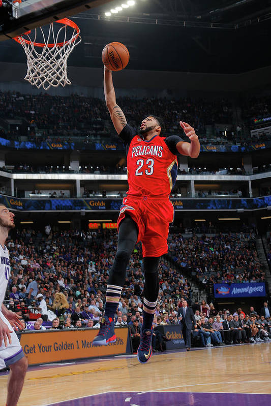 Nba Pro Basketball Art Print featuring the photograph Anthony Davis by Rocky Widner