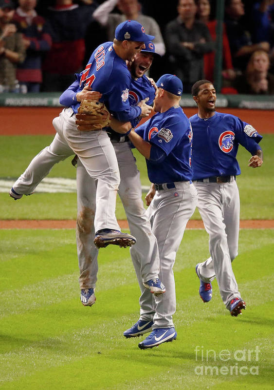 People Art Print featuring the photograph Anthony Rizzo and Kris Bryant by Gregory Shamus