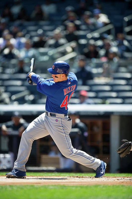 American League Baseball Art Print featuring the photograph Anthony Rizzo by Rob Tringali