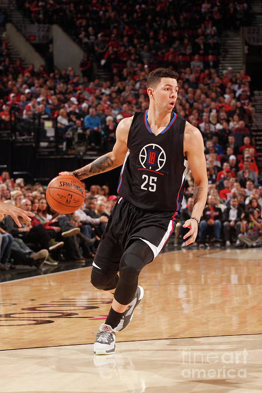 Nba Pro Basketball Art Print featuring the photograph Austin Rivers by Cameron Browne