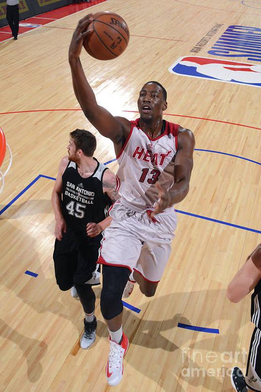 Nba Pro Basketball Art Print featuring the photograph Bam Adebayo by David Dow
