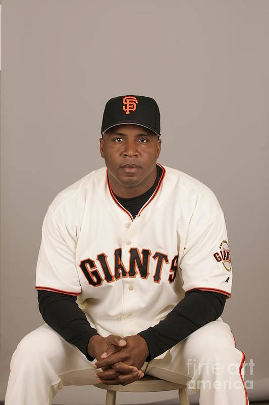 Media Day Art Print featuring the photograph Barry Bonds by Jason Wise