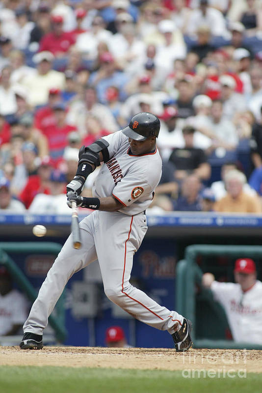 Motion Art Print featuring the photograph Barry Bonds by Rob Leiter