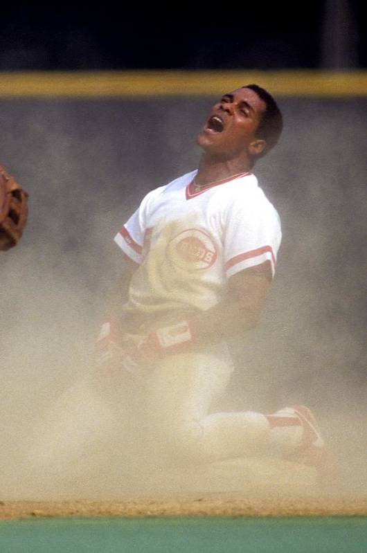 1980-1989 Art Print featuring the photograph Barry Larkin by Ronald C. Modra/sports Imagery
