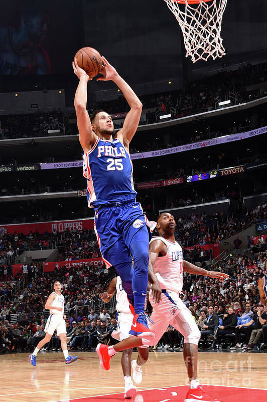 Nba Pro Basketball Art Print featuring the photograph Ben Simmons by Andrew D. Bernstein