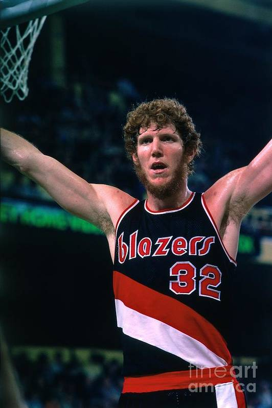 Nba Pro Basketball Art Print featuring the photograph Bill Walton by Dick Raphael