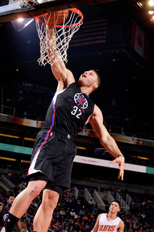 Nba Pro Basketball Art Print featuring the photograph Blake Griffin by Barry Gossage
