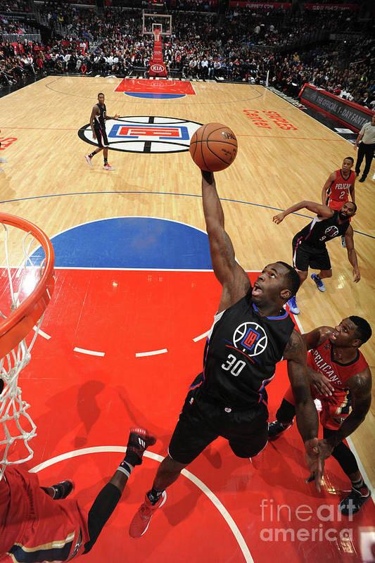 Nba Pro Basketball Art Print featuring the photograph Brandon Bass by Adam Pantozzi
