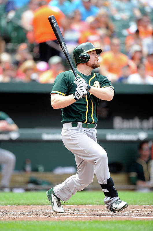 American League Baseball Art Print featuring the photograph Brandon Moss by Greg Fiume