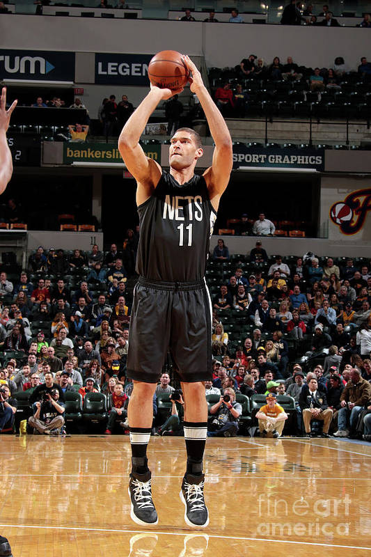 Nba Pro Basketball Art Print featuring the photograph Brook Lopez by Ron Hoskins