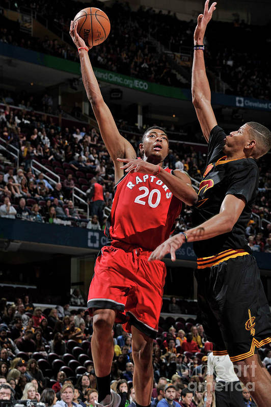 Nba Pro Basketball Art Print featuring the photograph Bruno Caboclo by David Liam Kyle