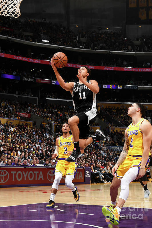 Nba Pro Basketball Art Print featuring the photograph Bryn Forbes by Andrew D. Bernstein