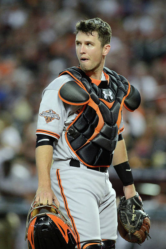Second Inning Art Print featuring the photograph Buster Posey by Jennifer Stewart