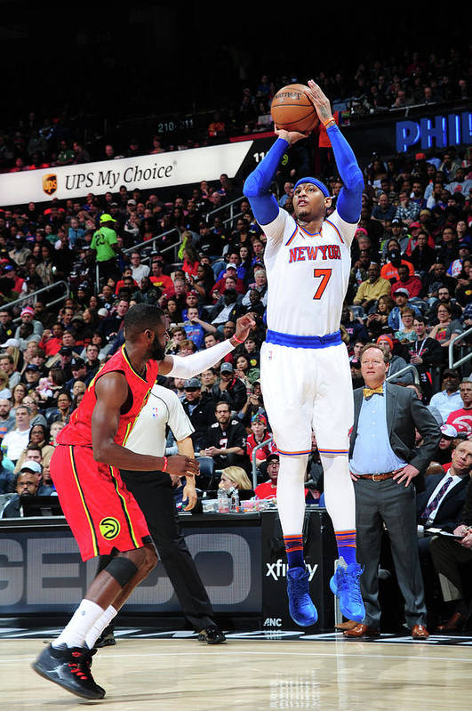 Atlanta Art Print featuring the photograph Carmelo Anthony by Scott Cunningham