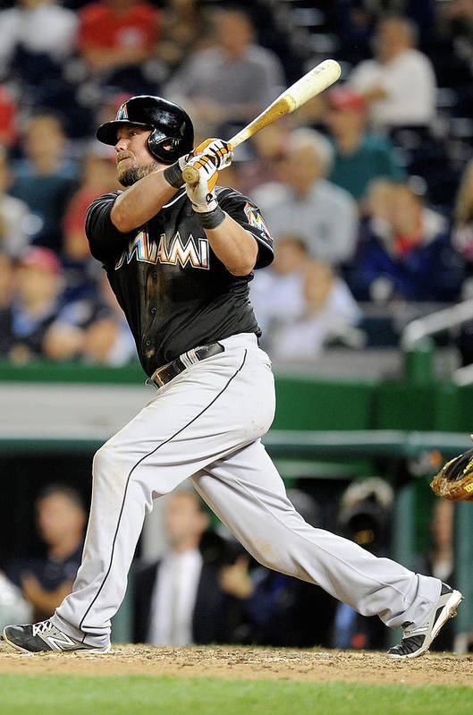 American League Baseball Art Print featuring the photograph Casey Mcgehee by Greg Fiume