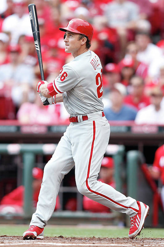 Great American Ball Park Art Print featuring the photograph Chase Utley by Joe Robbins