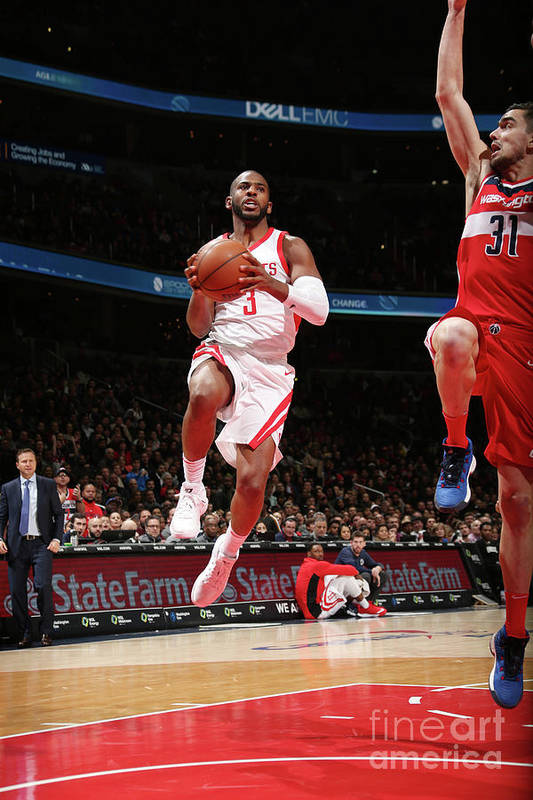 Nba Pro Basketball Art Print featuring the photograph Chris Paul by Ned Dishman