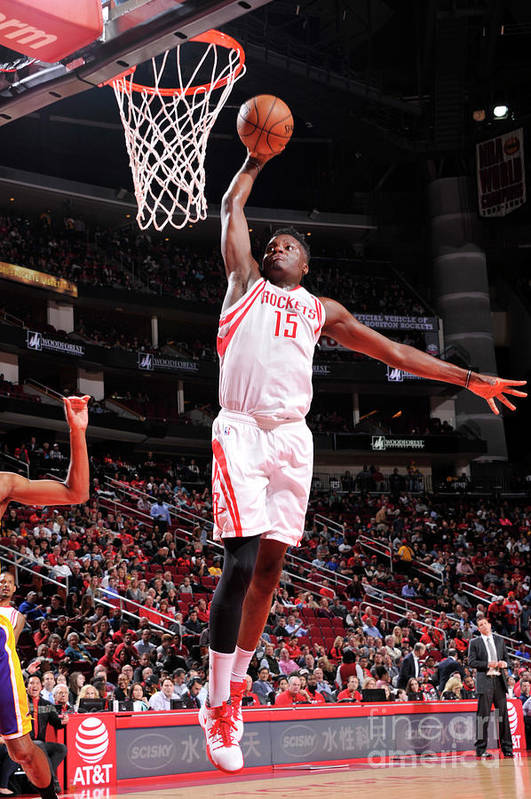 Nba Pro Basketball Art Print featuring the photograph Clint Capela by Bill Baptist