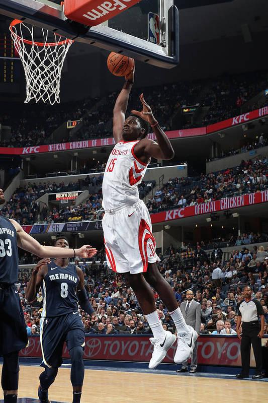 Nba Pro Basketball Art Print featuring the photograph Clint Capela by Joe Murphy