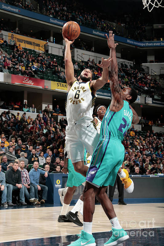 Nba Pro Basketball Art Print featuring the photograph Cory Joseph by Ron Hoskins