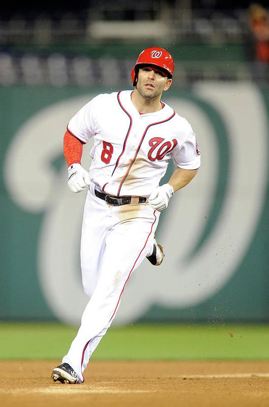 American League Baseball Art Print featuring the photograph Danny Espinosa by Greg Fiume