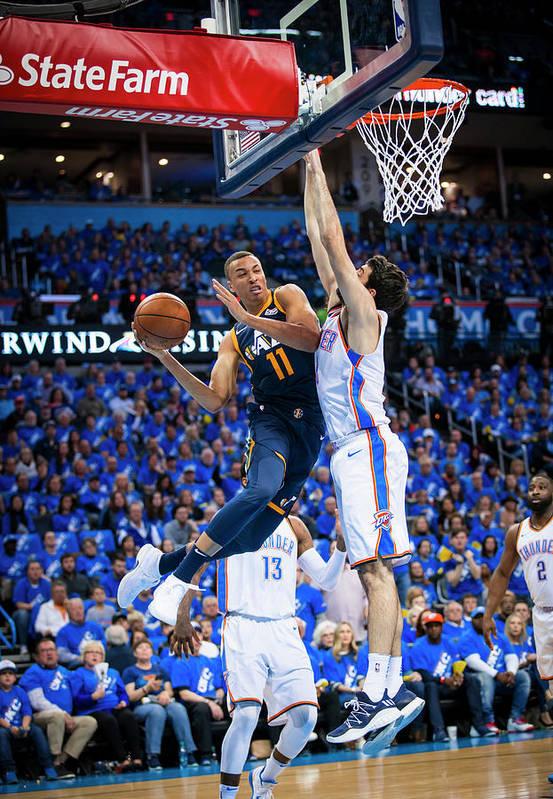 Playoffs Art Print featuring the photograph Dante Exum by Zach Beeker