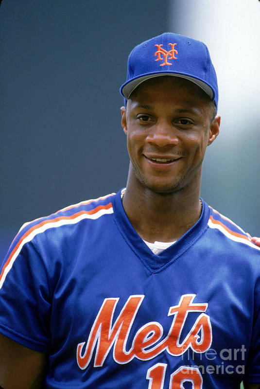 1980-1989 Art Print featuring the photograph Darryl Strawberry by Ron Vesely