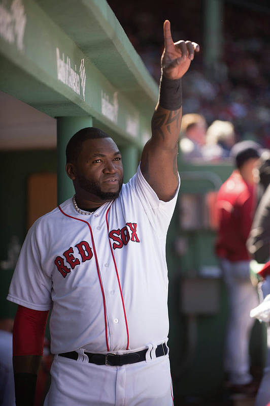 East Art Print featuring the photograph David Ortiz by Rob Tringali