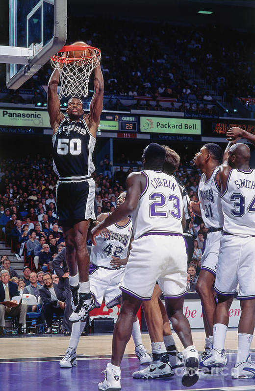 Nba Pro Basketball Art Print featuring the photograph David Robinson by Rocky Widner