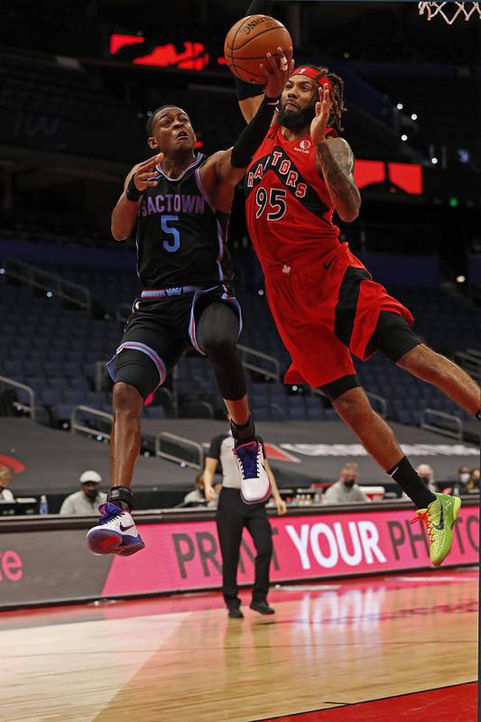 Nba Pro Basketball Art Print featuring the photograph De'aaron Fox by Scott Audette