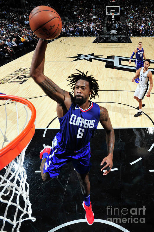 Nba Pro Basketball Art Print featuring the photograph Deandre Jordan by Mark Sobhani