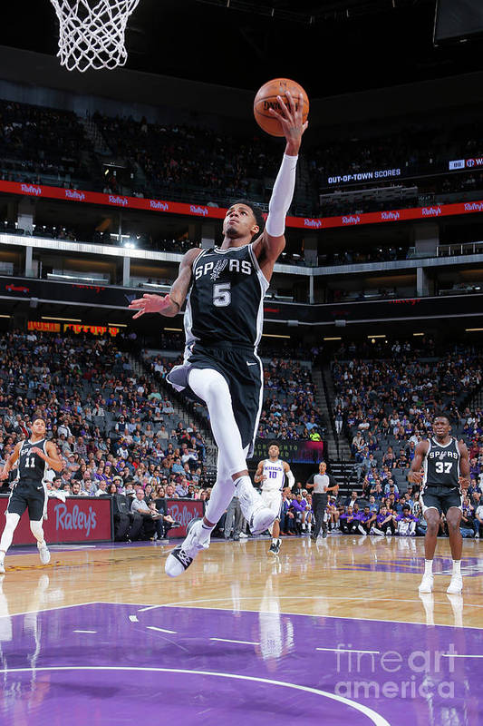 Nba Pro Basketball Art Print featuring the photograph Dejounte Murray by Rocky Widner