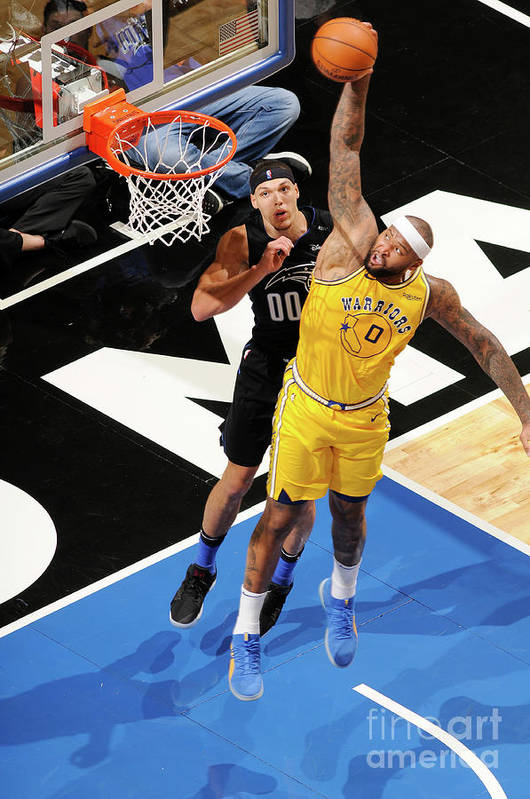Nba Pro Basketball Art Print featuring the photograph Demarcus Cousins and Aaron Gordon by Fernando Medina